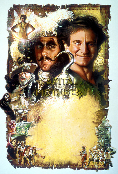 Hook (1991) <br /> Promotional art with Robin Williams &amp; Dustin Hoffman<br /> *Filmstill - Editorial Use Only*<br /> CAP/KFS<br /> Image supplied by Capital Pictures