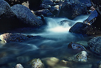 Gently flowing stream in the Sierra mountains.