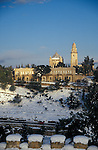Israel, Snow over Mount Zion and Doemition Abbey