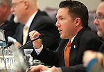 Nevada Assemblyman David Bobzien, D-Reno, speaks in committee at the Legislature, in Carson City, Nev., on Wednesday, March 23, 2011.  .Photo by Cathleen Allison
