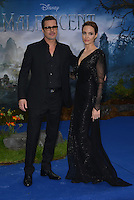 LONDON, ENGLAND - MAY 08: Brad Pitt and Angelina Jolie attends a private reception as costumes and props from Disney's 'Maleficent' are exhibited in support of Great Ormond Street Hospital at Kensington Palace on May 8, 2014 in London, England<br /> CAP/PL<br /> &copy;Phil Loftus/Capital Pictures /MediaPunch ***NORTH AND SOUTH AMERICAS ONLY***