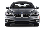 Car photography straight front view of a 2015 BMW 5 Series 528i 4 Door Sedan Front View