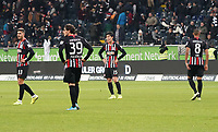 Enttäuschung bei Makoto Hasebe (Eintracht Frankfurt), Goncalo Paciencia (Eintracht Frankfurt), Daichi Kamada (Eintracht Frankfurt), Djibril Sow (Eintracht Frankfurt) - 23.11.2019: Eintracht Frankfurt vs. VfL Wolfsburg, Commerzbank Arena, 12. Spieltag<br /> DISCLAIMER: DFL regulations prohibit any use of photographs as image sequences and/or quasi-video.