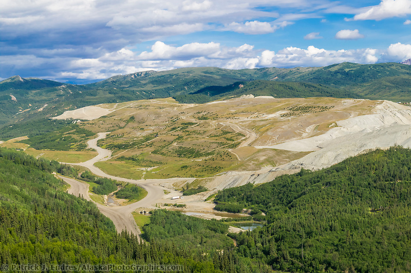 Coal mining reclamation in healy, foothills of the Alaska Range, Interior, Alaska