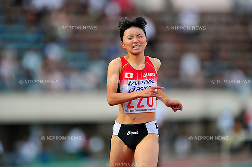 Satomi Kubokura (JPN),JULY 9, 2011 - Athletics :The 19th Asian Athletics Championships Hyogo/Kobe, Women's 400mH Final at Kobe Sports Park Stadium, Hyogo ,Japan. (Photo by Jun Tsukida/AFLO SPORT) [0003]