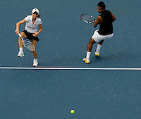 Leander Paes (IND) (2) & Cara Black (ZIM) (2) against Carly Gullickson (USA) & Travis Parrott (USA) in the final of the Mixed Doubles. Gullickson & Parrott beat Black & Paes 6-2 6-4..International Tennis - US Open - Day 11 Thu 10 Sep 2009 - USTA Billie Jean King National Tennis Center - Flushing - New York - USA ..© Frey Images, Barry House, 20-22 Worple Road, London, SW19 4DH.Tel - +44 20 8947 0100.Cell - +447843 383 012.Email - mfrey@advantagemedianet.com