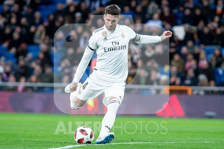 Sergio Ramos of Real Madrid during King's Cup 2018-2019 match between Real Madrid and CD Leganes at Santiago Bernabeu Stadium in Madrid, Spain. January 09, 2019. (ALTERPHOTOS/Borja B.Hojas)
