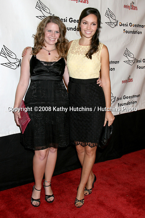 Nicki Monet & Emily O'Brien arriving at the Desi Geestman Foundataion Annual Evening with the Stars at the Universal Sheraton Hotel in Los Angeles, CA.October 11, 2008.©2008 Kathy Hutchins / Hutchins Photo...                .