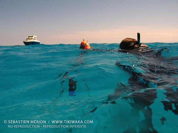 Chasse sous-marine dans le lagon de Nouvelle-Calédonie