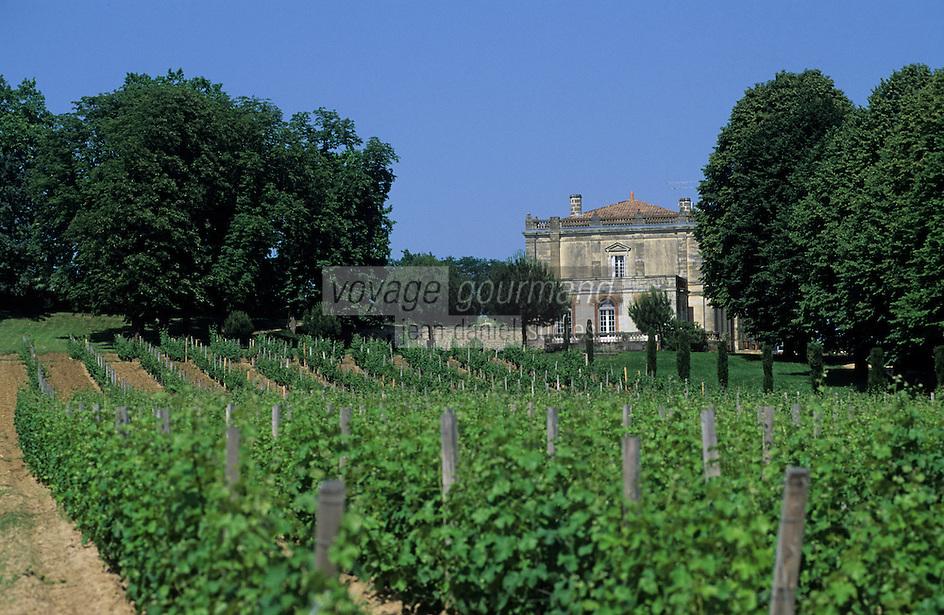 Europe/France/Aquitaine/33/Gironde/Beguey: Le Château Reynon (AOC Premières côtes de Bordeaux) et le vignoble