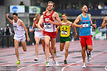EUGENE, OR - JUNE 8: Oliver Hoare of the Wisconsin Badgers races to a victory in the 1500 meter run during the Division I Men's Outdoor Track & Field Championship held at Hayward Field on June 8, 2018 in Eugene, Oregon. (Photo by Jamie Schwaberow/NCAA Photos via Getty Images)