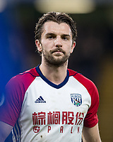 Jay Rodriguez of WBA during the Premier League match between Chelsea and West Bromwich Albion at Stamford Bridge, London, England on 12 February 2018. Photo by Andy Rowland.