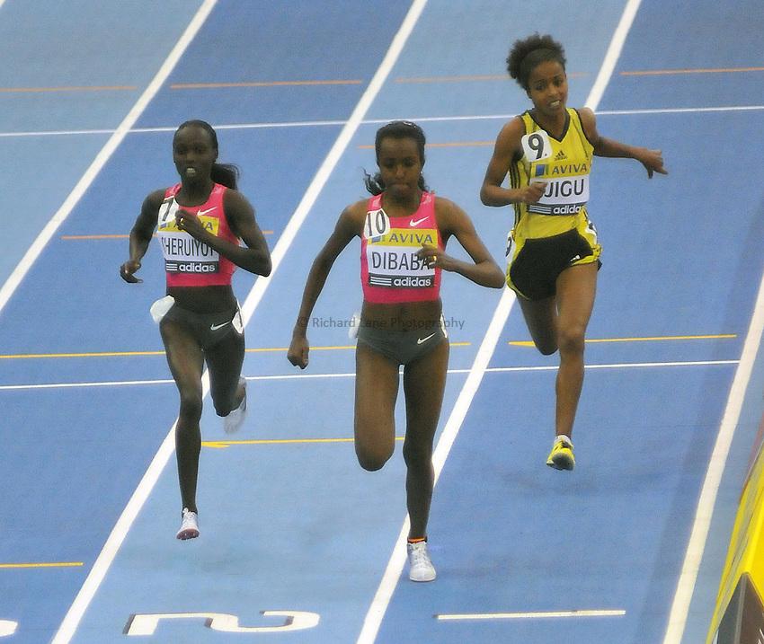 Photo: Tony Oudot/Richard Lane Photography. Aviva Grand Prix. 20/02/2010. .Tirunesh Dibaba wins the Womens Two Miles.