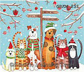 Kate, CHRISTMAS ANIMALS, WEIHNACHTEN TIERE, NAVIDAD ANIMALES, paintings+++++Christmas page 99 1,GBKM251,#xa#
