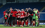 Sheffield United players huddle after the The FA Women's Championship match at the Proact Stadium, Chesterfield. Picture date: 12th January 2020. Picture credit should read: James Wilson/Sportimage