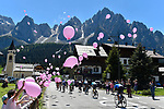 The rear of the peloton during Stage 19 of the 100th edition of the Giro d'Italia 2017, running 191km from San Candido/Innichen to Piancavallo, Italy. 26th May 2017.<br /> Picture: LaPresse/Fabio Ferrari | Cyclefile<br /> <br /> <br /> All photos usage must carry mandatory copyright credit (&copy; Cyclefile | LaPresse/Fabio Ferrari)