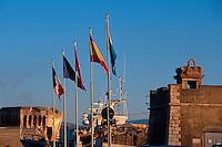 Italien,  Elba, Portoferraio, Hafen, Fortezza Medicea und Gallo-Turm