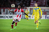 14th September 2017, Red Star Stadium, Belgrade, Serbia; UEFA Europa League Group stage, Red Star Belgrade versus BATE; Forward Richmond Boakye of Red Star Belgrade clears upfield