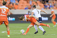 Houston, TX - Thursday Aug. 18, 2016: Caity Heap, Christine Nairn during a regular season National Women's Soccer League (NWSL) match between the Houston Dash and the Washington Spirit at BBVA Compass Stadium.
