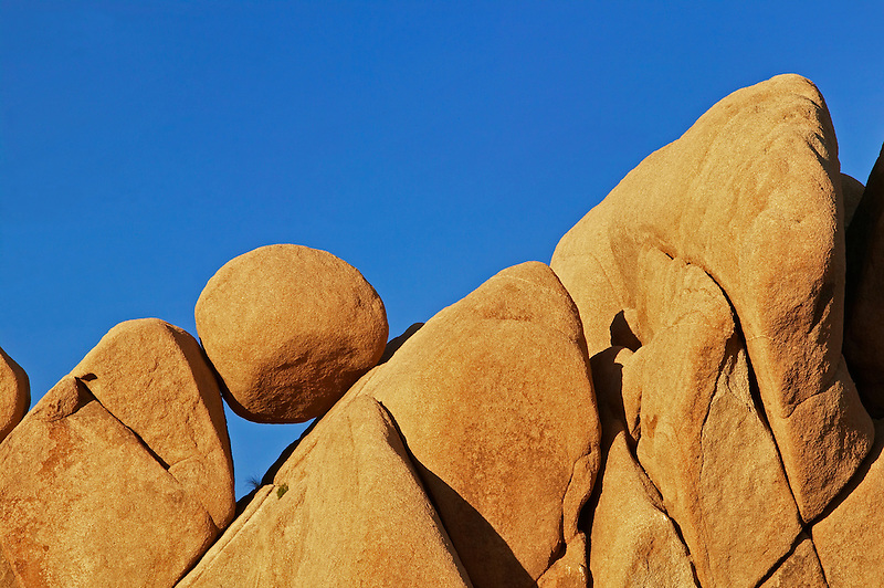Round balancing rock. Joshua Tree National Park, California