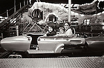 1978. Kirsten, Tolston, Matisse, and Kirsten in coaster car. Atlantic City, NJ.
