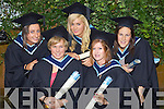 Patricia O'Shea, Dromid, Lesley Crean, Tralee, Grace Healy, Tralee,  Nora Moriarty Ballylongford, and Michelle Flannery  Dingle who graduated with a Bachelor of Arts (Honours) in Early Childhood Care and Education at the Autumn graduations which took place at the Brandon hotel on Friday.