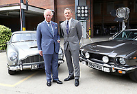 Prince Charles Tours Set of 25th James Bond Film