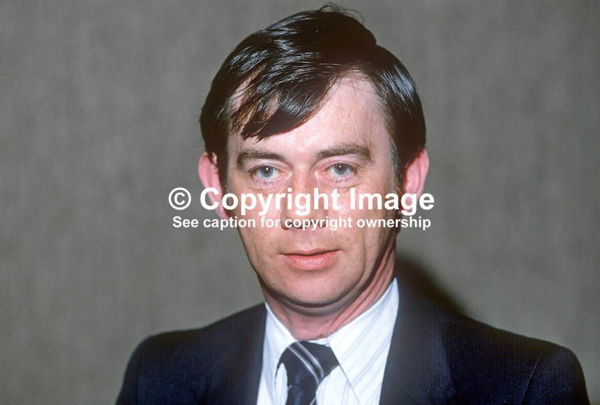 Robert Clarke, chairman, N Ireland Labour Party, March, 1982, 198204000026RC<br />