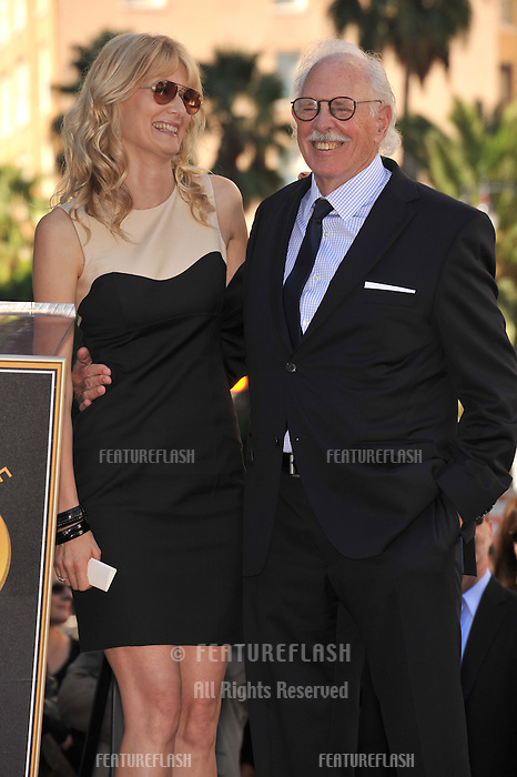 Bruce Dern & daughter Laura Dern on Hollywood Boulevard where they each were honored with a star on the Hollywood Walk of Fame. This was the first time in history that three stars from the same Hollywood family dynasty of actors was honored at the same time..The Hollywood Walk of Fame is celebrating its 50th anniversary this month..November 1, 2010  Los Angeles, CA.Picture: Paul Smith / Featureflash
