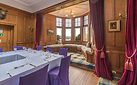 BNPS.co.uk (01202 558833)<br /> Pic: BellIngram/BNPS<br /> <br /> Enormous dining room.<br /> <br /> A magnificient Scottish castle which comes with its own two islands is on the market for £3.75million.<br /> <br /> Glenborrodale Castle is situated on the southern shore of the picturesque Ardnamurchan Peninsula in the remote Highlands. <br /> <br /> The baronial mansion dates from 1902 and is built from distinctive red Dumfriesshire sandstone.<br /> <br /> It boasts 133 acres of land taking in the idyllic uninhabited isles of Risga and Eileam an Feidh.<br /> <br /> The larger of the two, Risga, spans 30 acres and is in the centre of Loch Sunart, 800 yards from the north shore