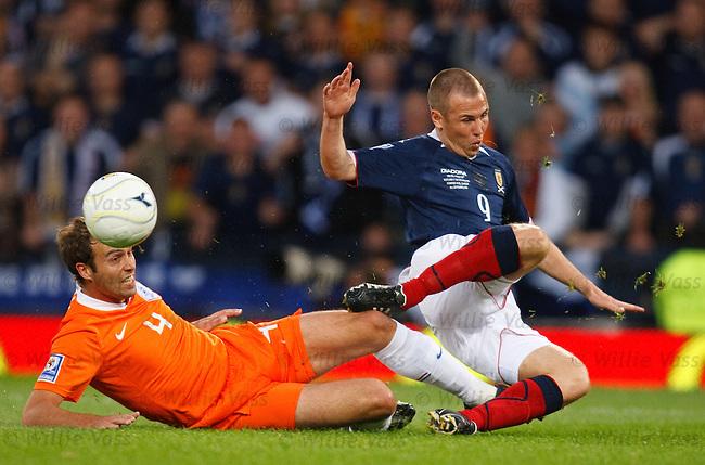 Kenny Miller tackled by Joris Mathijsen
