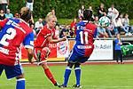 19.08.2017, Allg&auml;ustadion / Allgaeustadion, Wangen, GER, FSP, Bayern M&uuml;nchen vs FC Basel, im Bild Ria Percival (Basel #2), Leonie Maier (Muenchen #20), Eunice Beckmann (Basel #11)<br /> <br /> Foto &copy; nordphoto / Hafner