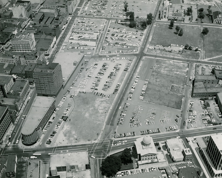 UNDATED..Redevelopment.Downtown North (R-8)..future site Macarthur Center.looking North...NEG#.NRHA#..