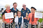 LOAD OF BALONEY: Winners of the senior and junior Ballyheigue Butterbox Baloney competition with the judges at the Ballyheigue Summer Festival on Sunday l-r: Juliane O'Carroll, Derry McCarthy, Sadhbh O'Hanron, John Brassil and Eilleen Buckley..    Copyright Kerry's Eye 2008