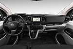 Stock photo of straight dashboard view of 2017 Citroen Jumpy Business 5 Door Cargo Van Dashboard
