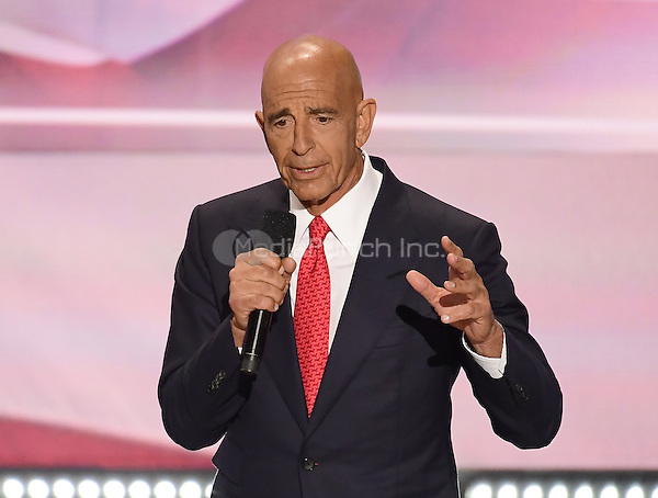 Tom Barrack, CEO of Colony Capital, makes remarks at the 2016 Republican National Convention held at the Quicken Loans Arena in Cleveland, Ohio on Thursday, July 21, 2016.<br /> Credit: Ron Sachs / CNP/MediaPunch<br /> (RESTRICTION: NO New York or New Jersey Newspapers or newspapers within a 75 mile radius of New York City)