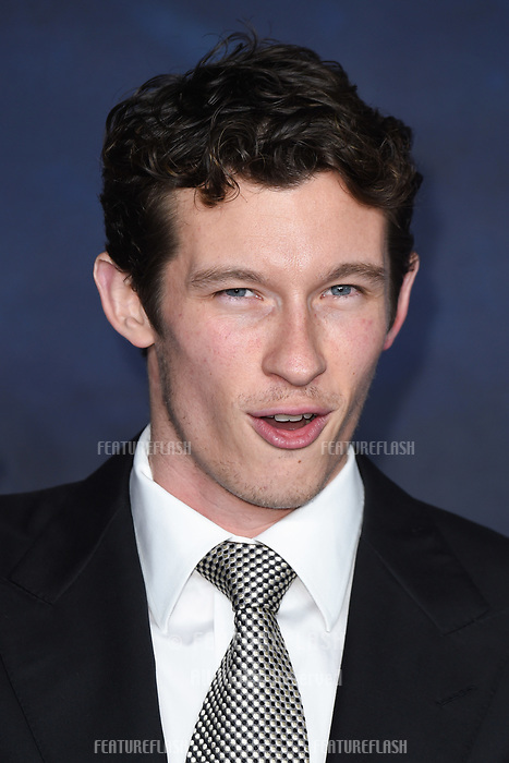 "LONDON, UK. November 13, 2018: Callum Turner at the ""Fantastic Beasts: The Crimes of Grindelwald"" premiere, Leicester Square, London.<br /> Picture: Steve Vas/Featureflash"