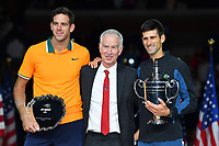 Novak Djokovic (Ser) defeated Juan Martin Del Potro (Arg) in US Open final<br /> Flushing Meadows 09-09-2018 US Open<br /> Tennis Grande Slam 2018 Finale Uomini - Men's Final <br /> Foto Couvercelle /Panoramic / Insidefoto <br /> ITALY ONLY
