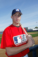 February 10 2008: Kyle Skipworth participates in a MLB pre draft workout for high school players at the Urban Youth Academy in Compton,CA.  Photo by Larry Goren/Four Seam Images