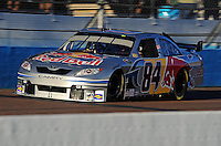 Nov. 7, 2008; Avondale, AZ, USA; NASCAR Sprint Cup Series driver Scott Speed during qualifying for the Checker Auto Parts 500 at Phoenix International Raceway. Mandatory Credit: Mark J. Rebilas-