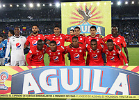 BOGOTA -COLOMBIA, -11-03-2017. Team of America de Cali agaisnt of  Millonarios during match agaisnt of Mllonarios  for the date 9 of the Aguila League I 2017 played at Nemesio Camacho El Campin stadium . Photo:VizzorImage / Felipe Caicedo  / Staff