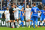 11.05.2019, PreZero Dual Arena, Sinsheim, GER, 1. FBL, TSG 1899 Hoffenheim vs. SV Werder Bremen, <br /> <br /> DFL REGULATIONS PROHIBIT ANY USE OF PHOTOGRAPHS AS IMAGE SEQUENCES AND/OR QUASI-VIDEO.<br /> <br /> im Bild: Claudio Pizarro (SV Werder Bremen #4) diskutiert mit Schiedsrichter Bastian Dankert<br /> <br /> Foto &copy; nordphoto / Fabisch