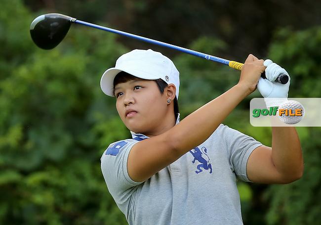 17 August 14 Japan's Haru Nomura enjoying Sunday's Final Round of The Wegman's LPGA Championship at The Monroe Golf Club in Pittsford, New York. (photo credit : kenneth e. dennis/kendennisphoto.com)