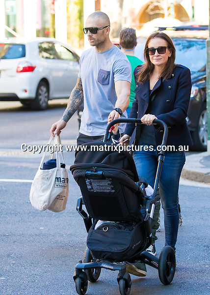 14 MAY 2016 SYDNEY AUSTRALIA<br /> WWW.MATRIXPICTURES.COM.AU <br /> <br /> EXCLUSIVE PICTURES<br /> <br /> Michelle Bridges pictured out for a morning walk in Potts Point with Steve, Jack and Axel.<br /> <br /> *ALL WEB USE MUST BE CLEARED*<br /> <br /> Please contact prior to use:  <br /> <br /> +61 2 9211-1088 or email images@matrixmediagroup.com.au <br /> <br /> Note: All editorial images subject to the following: For editorial use only. Additional clearance required for commercial, wireless, internet or promotional use.Images may not be altered or modified. Matrix Media Group makes no representations or warranties regarding names, trademarks or logos appearing in the images.