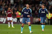 Son Heung-Min of Tottenham Hotspur celebrates scoring the first goal during West Ham United vs Tottenham Hotspur, Caraboa Cup Football at The London Stadium on 31st October 2018