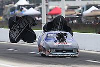 Apr 24, 2015; Baytown, TX, USA; NHRA pro mod driver Kenny Lang during the Spring Nationals at Royal Purple Raceway. Mandatory Credit: Mark J. Rebilas-