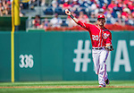 7 September 2014: Washington Nationals shortstop Ian Desmond gets the second out in the second inning against the Philadelphia Phillies at Nationals Park in Washington, DC. The Nationals defeated the Phillies 3-2 to salvage the final game of their 3-game series. Mandatory Credit: Ed Wolfstein Photo *** RAW (NEF) Image File Available ***