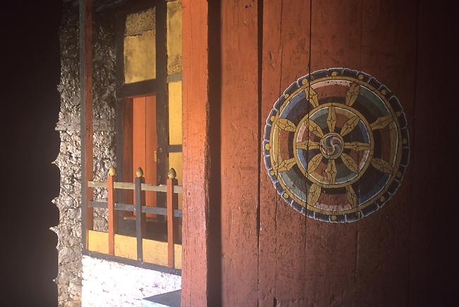 Door, Takar Dzong, Bhutan