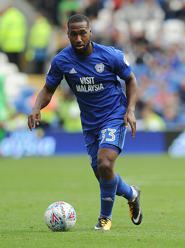 Cardiff City's Junior Hoilett in action <br /> <br /> Photographer Ashley Crowden/CameraSport<br /> <br /> The EFL Sky Bet Championship - Cardiff City v Aston Villa - Saturday August 12th 2017 - Cardiff City Stadium - Cardiff<br /> <br /> World Copyright &copy; 2017 CameraSport. All rights reserved. 43 Linden Ave. Countesthorpe. Leicester. England. LE8 5PG - Tel: +44 (0) 116 277 4147 - admin@camerasport.com - www.camerasport.com