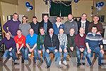 Lartigue FC Reunion : Members of the Lartigue FC who attended a 15th anniversary reunion at the Kingdom Bar, Listowel on Saturday night last. Front : Tom Barry, Pat Quinn, Jim Sheehy, Timmy Kelly, Pat Barry, Pat O'Connor, George Carty, Declan Carty Jim Galvin. Back : Mickey Kennelly, Pip O'Carroll, Mike Murphy, Wally Walsh, Tagdh Murphy, Brian Carty, John Walsh & John O'Carroll.